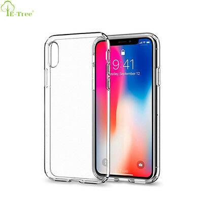 Clear Case For iPhone X XS MAX XR 8 7 6 Plus Cover Shockproof Silicone TOUGH