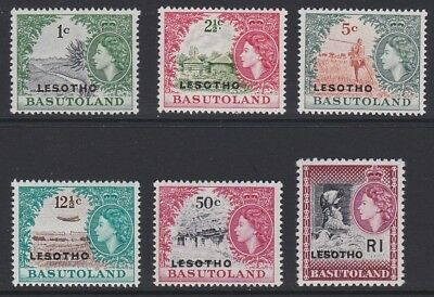 LESOTHO 1966 Basutoland overprint MINT selection MNH