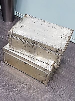 Pair of Vintage Metal Legal Boxes
