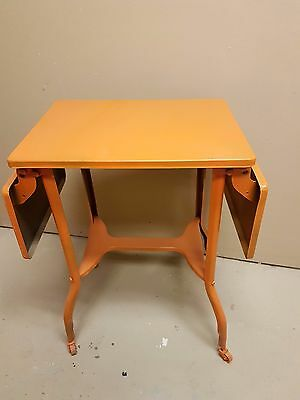 Mid Century Metal Lamp Table