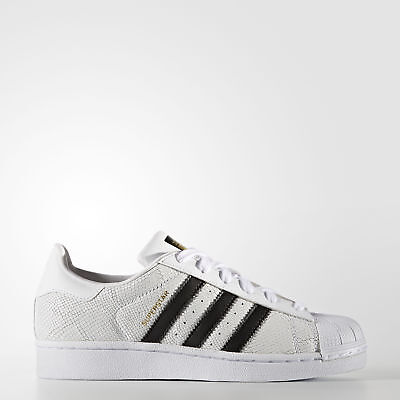 New adidas Originals Superstar Reptile Shoes S76996 Kids' White Sneakers
