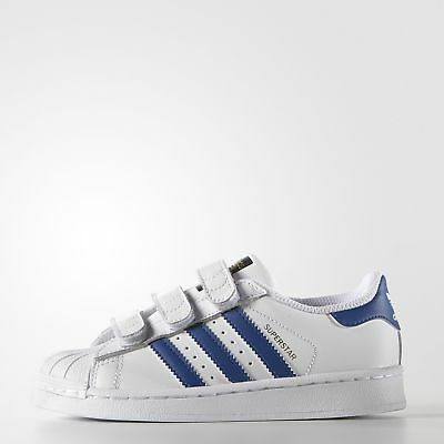 New adidas Originals Superstar Foundation Shoes S74945 Kids' White Sneakers
