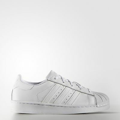 New adidas Originals Superstar Foundation Shoes B23655 Kids' White Sneakers