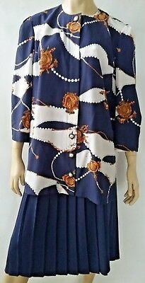 STITCHES ladies size 18 top and skirt set 2 piece outfit 80s
