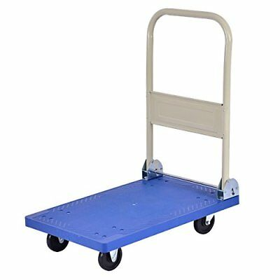 Goplus Folding Platform Cart 220LB Rolling Flatbed Cart Hand Dolly Truck New