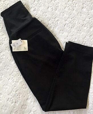 New Gap Maternity 2-way Stretch PANEL Skinny Ankle 10A Black 696168  With Tags