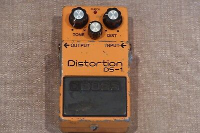 Boss DS-1 Distortion Pedal, Long Dash, Clear Switch, Silver Screw, Black MIJ Lab
