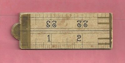1891 Arm & Hammer Advertising Piece - Paper Fold-Out Rule w/ Calendar 1891&1892