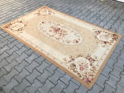 """Aubusson Rug French design Hand-knotted Wool Classic Size 5' x 8'1"""" Ft"""