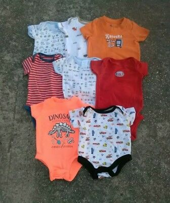 Baby Boy Clothes Lot Of 8 Pieces Size 0-3 Months Great Shape Pre Owned