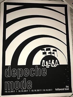 Depeche Mode Hollywood Bowl Los Angeles Print Poster 2017 Spirit Tour Limited