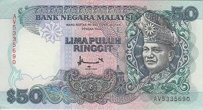 Malaysia Banknote P31C  50 Ringgit  Sig Am. Don,  Almost Uncirculated