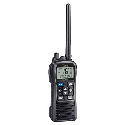 Icom M73 Handheld VHF - 6 Watts - IPX8 Submersible - Black [M73 21]