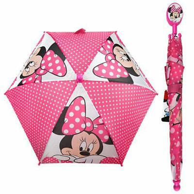 Minnie Mouse Figure Molded Handle Umbrella for Toddler Girl Kid Sized