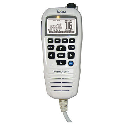 Icom COMMANDMICIV w/White BlackLit LCD - Super White [HM195GW]