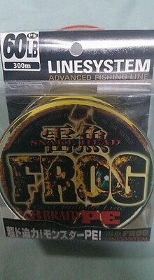 Braid PE-8 FROG linesystems 60lb / 300m yellow japan