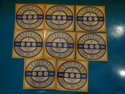 8 x 355ml SPEIGHTS GOLD MEDAL ALE  NEW ZEALAND BEER LABELS  CR7