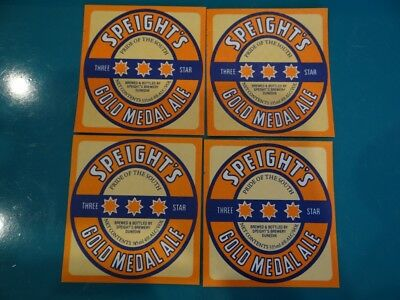 4 x 335ml SPEIGHTS GOLD MEDAL ALE  NEW ZEALAND BEER LABELS  CR9