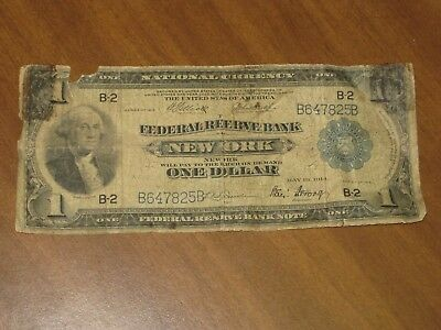 1918 $1 National Currency - New York Federal Reserve Bank Note