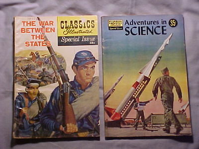"""2 Silver Age Classics Illustrated """"Special Issue War"""" and """"Adventures Science"""""""