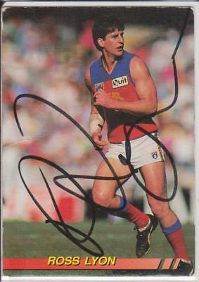 AFL Select 1994 Ross Lyon Signed Fitzroy Lions Card