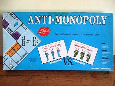 ~Vintage Anti-Monopoly - Real Estate Board Game - Gc~
