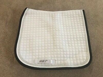ANKY Deluxe Competition Saddle Pad EUC Black and Silver Binding