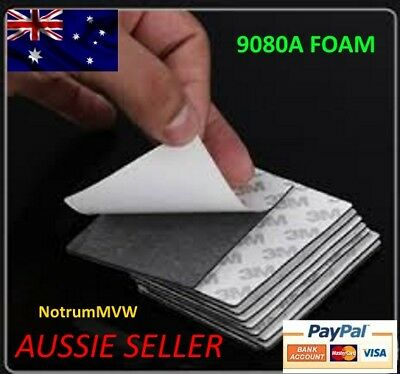 """2x 3M Black Rectangle 78mm x 60 mm Double Sided Mounting Tape """"Buy 2 Get 1 Free"""""""
