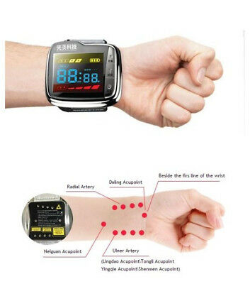 low lever laser portable laser glucose control phototherapy wrist watch