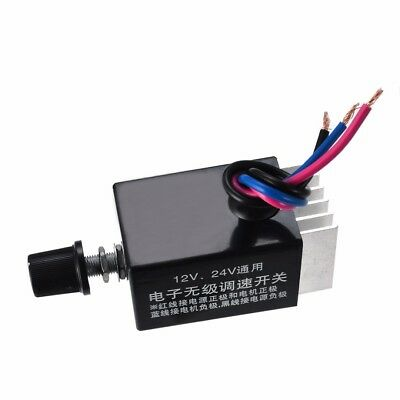 Universal 12V 24V Motor Speed Controller Switch For Car Truck Fan Heater Control