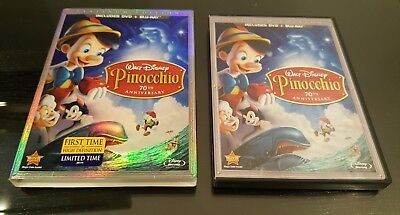 Disney's  Pinocchio 70th Anniversary Platinum Edition Dvd + Blu-Ray Very Good!