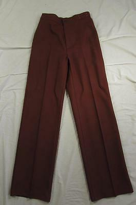 Vtg 70s Levi Womens Sta Prest Polyester Pants Tag Sz 12 Measure 28x32 USA Made