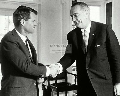 Lyndon Johnson Accepts Resignation Of Robert Kennedy 1964 - 8X10 Photo (Op-748)