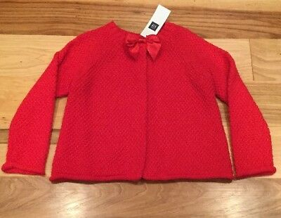 Baby Gap Girls Size 2 / 2T Red Sweater With Red Bow. NWT