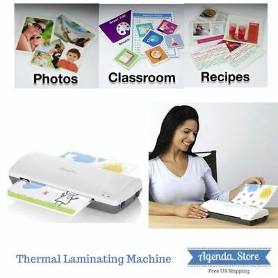 Thermal Laminator Machine 3-5 Mil Laminating Quick Roller System  Warmsup Fast