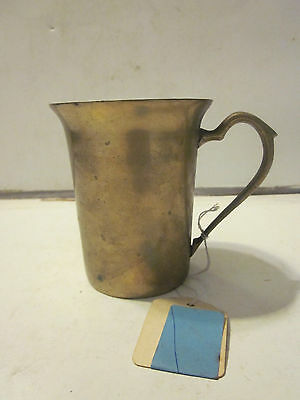 Vintage Korean Solid Brass Medieval Style Drinking Cup