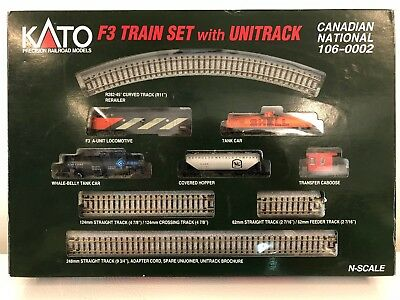 KATO N-Scale F3 Train Set w/Unitrack Canadian National Engine RD# 9002 Tested