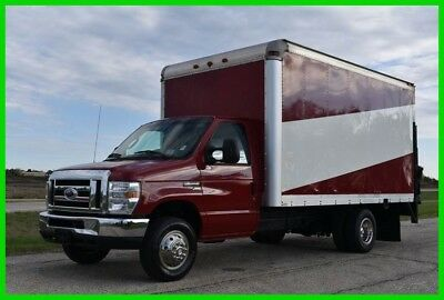 2011 Ford E-350 14 Ft Box Truck with Lift - NEW Jasper Gas Engine. - Clean!