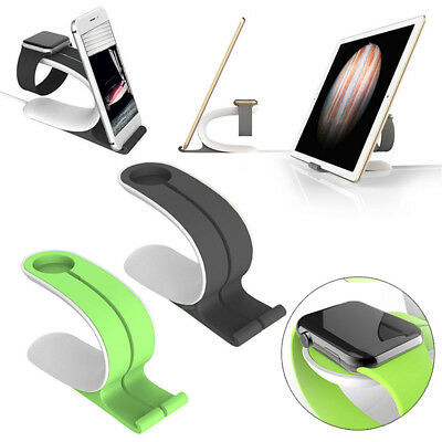 2in1 Charging Dock Stand Station Charger Holder for Apple Watch iWatch iPhone