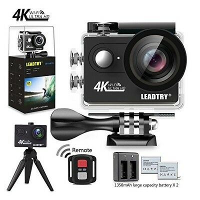 LeadTry Full 4K HD Action Camera Wifi, Mini 12MP, Waterproof, 26 Accessories