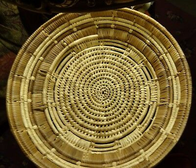 Large hand woven  Basket tray or wall decor