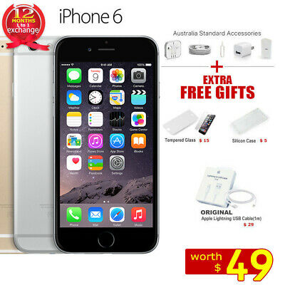 New Sealed Factory Unlocked APPLE iPhone 6 16GB 64GB 128GB 1Yr Wty Gifts