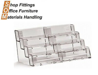 8 Tier Pocket Acrylic Plastic Business Card Holder Display