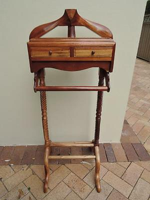 Solid Timber Valet Stand with 2 Drawers