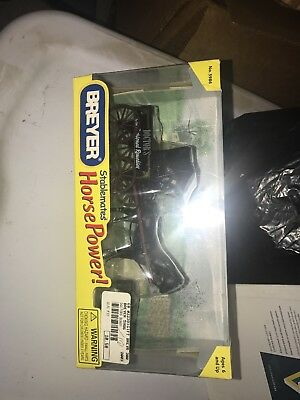 Breyer Stablemate Horse Power Black Horse Doctors Buggy Set New In Box