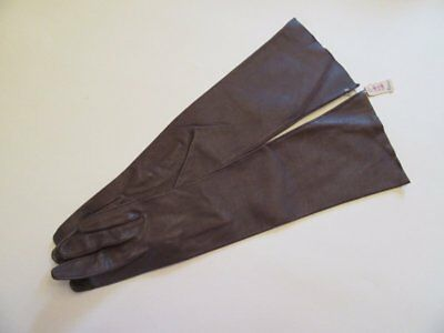 Vintage Leather Ladies Elbow Length Gloves Size 6 Nos