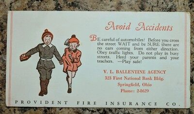 Advertising Ballentine Agency First National Bank Springfield Ohio Ink Blotter