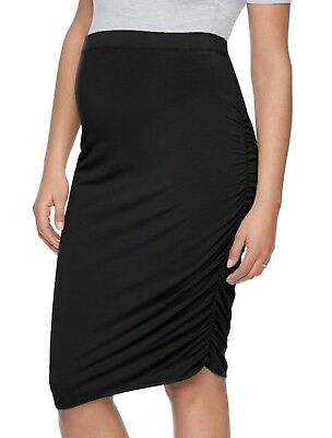 Maternity aGlow NEW Black Ruched Pencil Skirt Women's Size XS