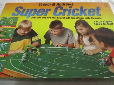 Super Cricket by Crown and Andrews. RARE! Used. Plus Bonus Table Top Tennis