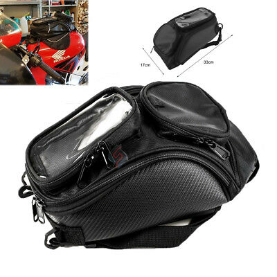 Universal Magnetic Motorcycle Motorbike Oil Fuel Tank Bag Big For Phone Black AS
